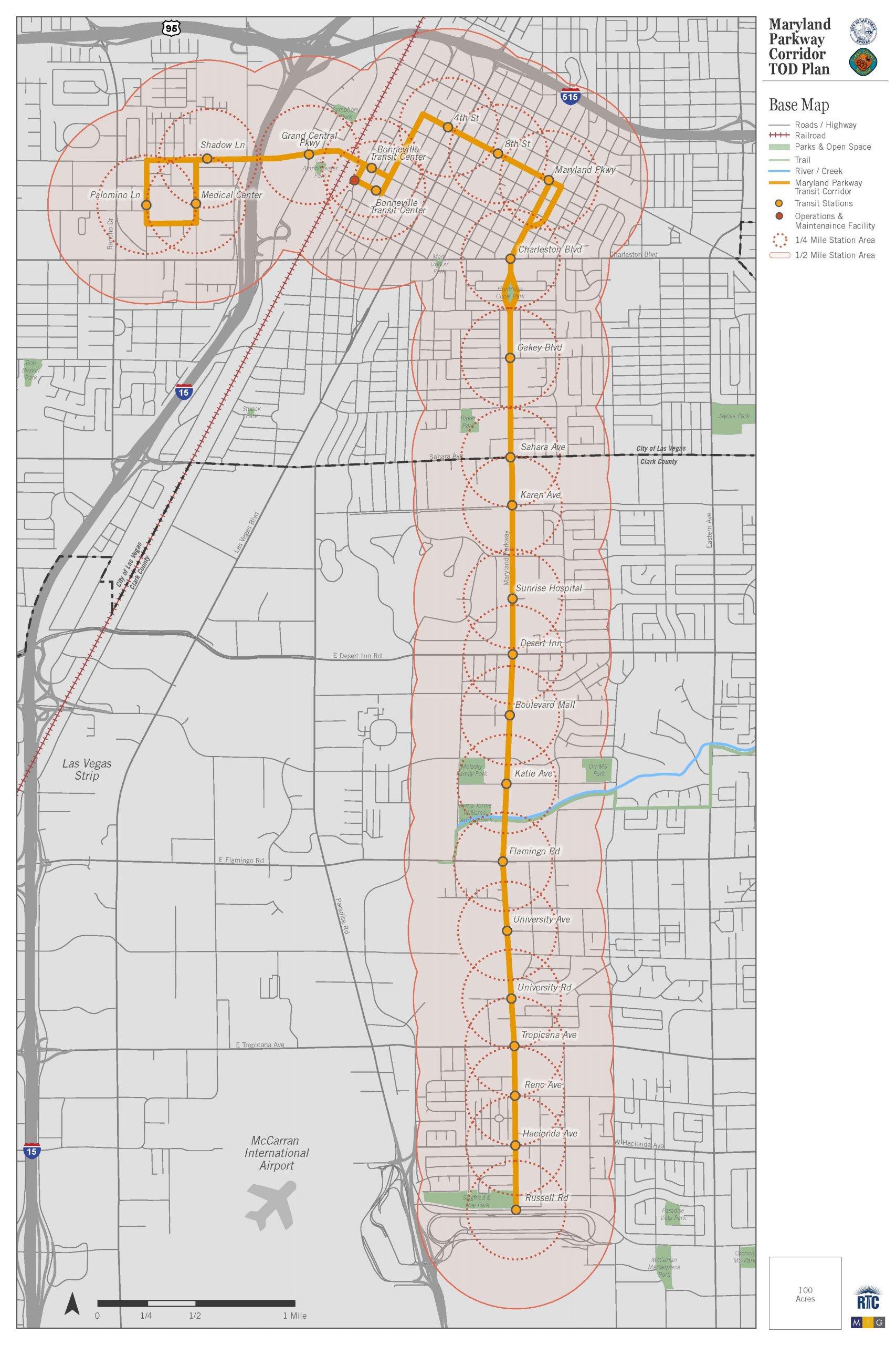TOD Corridor Map