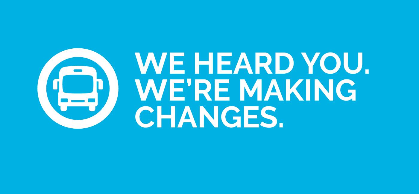 Service Change 2020