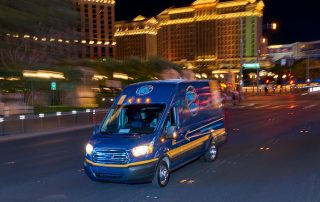 RTC Rideshare Van on Las Vegas Strip