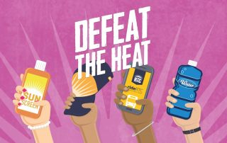 RTC Defeat the Heat Poster