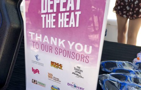 RTC Defeat The Heat Poster with Sponsors