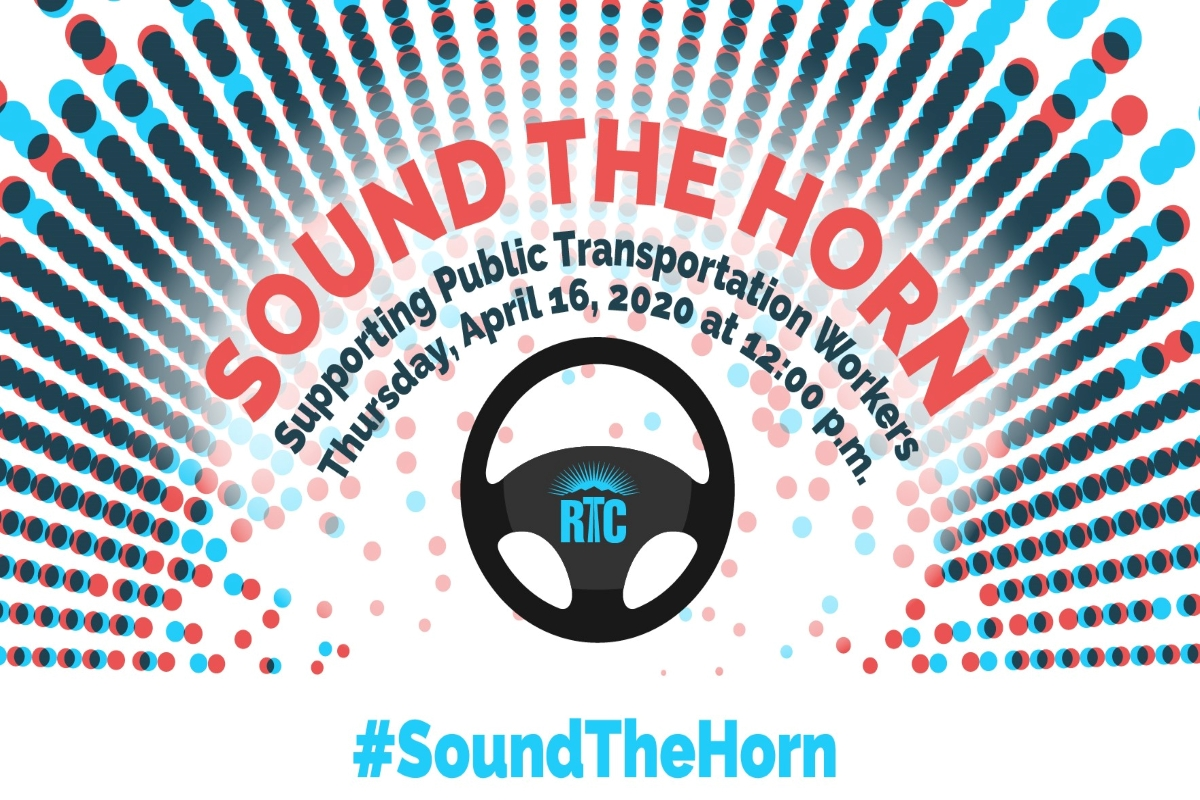 RTC public transit joins nationwide #SoundTheHorn Campaign on April 16