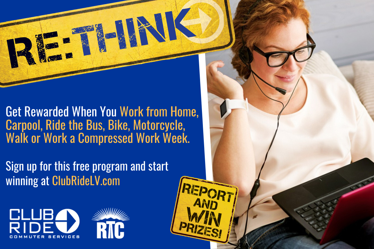 Working from home? Report your telecommute to Club Ride and be entered to win prizes!