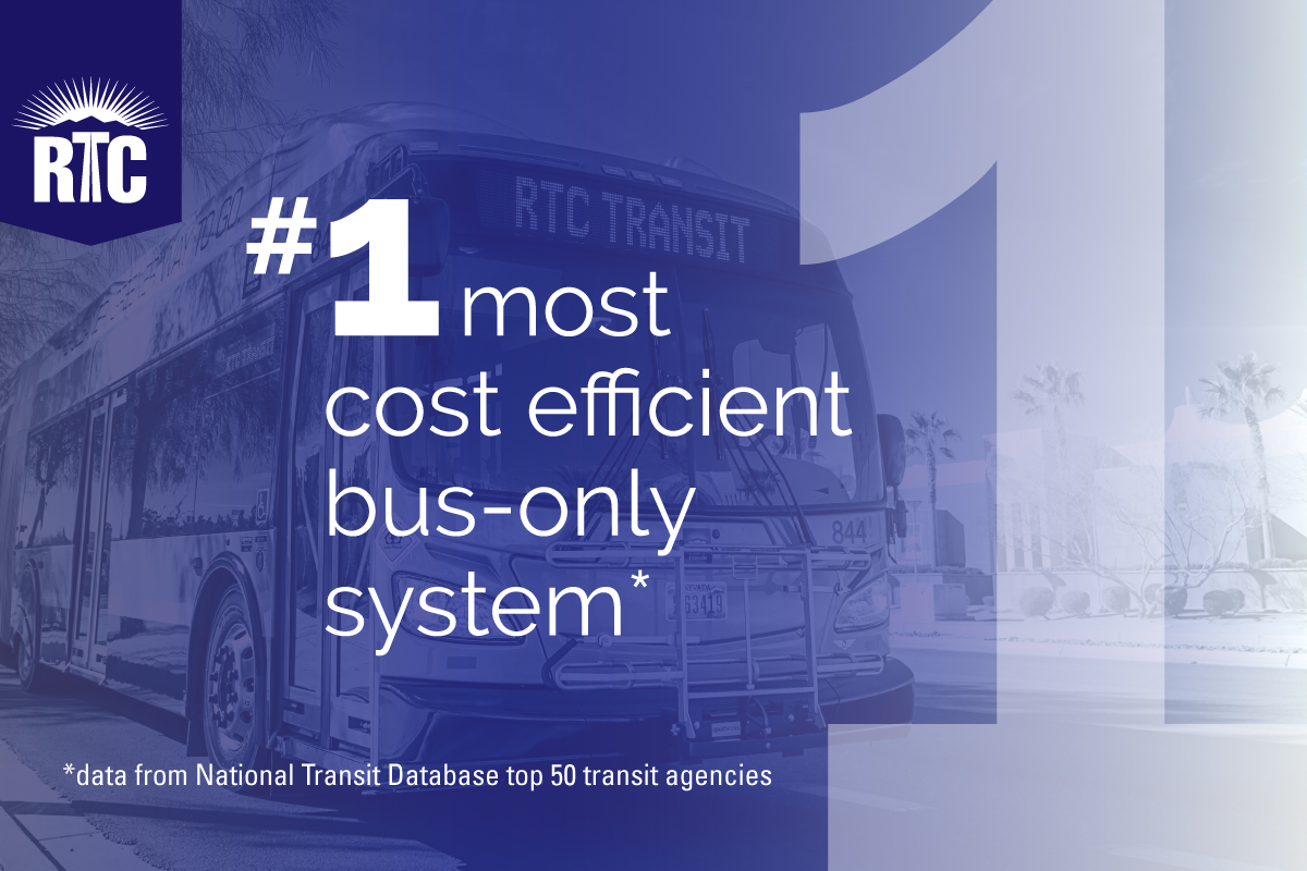 RTC number one most cost efficient bus-only transit system