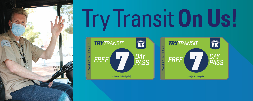 Take the bus, on us! The RTC Offers Southern Nevadans 14 Days of Free Transit Rides to Those Reentering the Workforce with its Try Transit Program