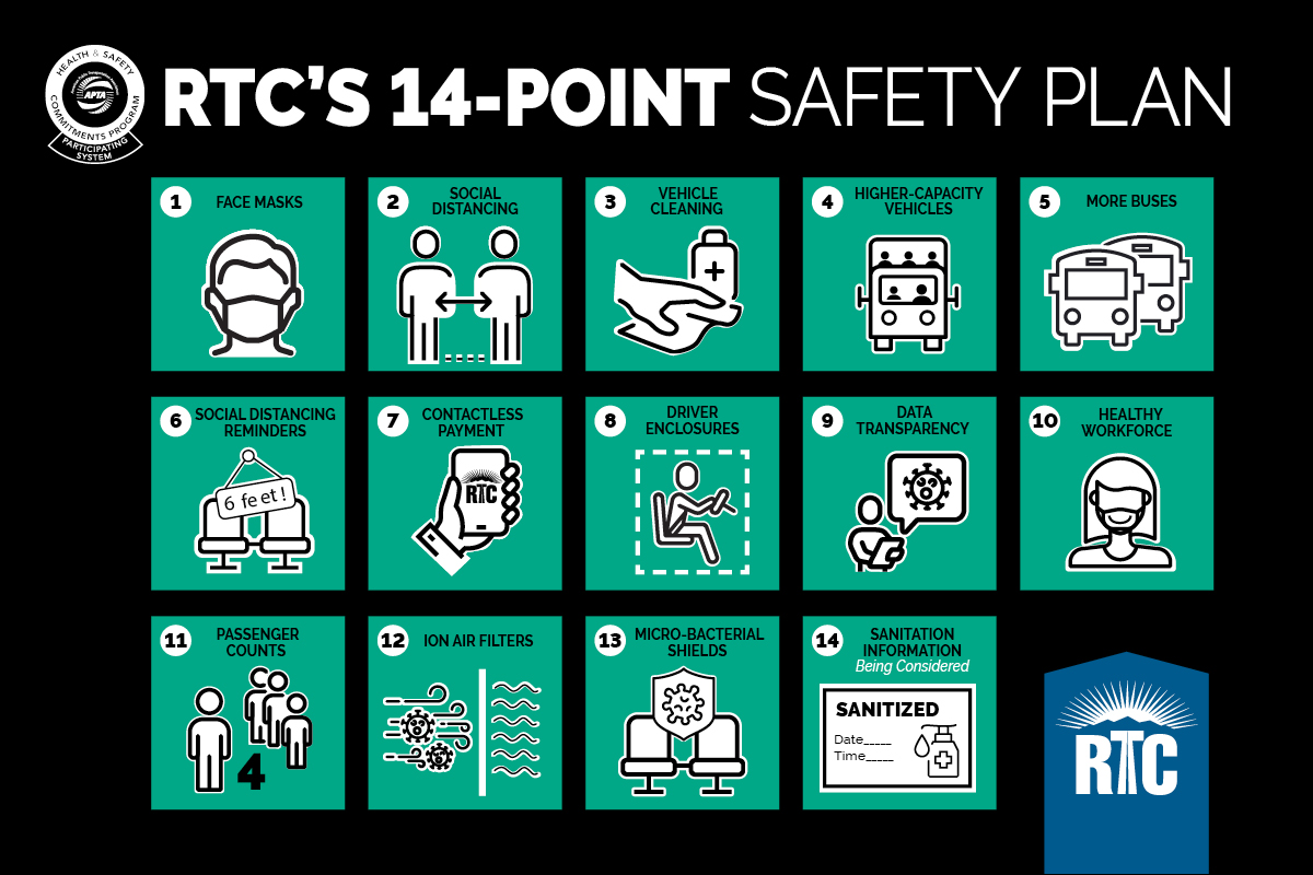 RTC Welcomes Back Riders with Safe and Sanitized Service as Las Vegas Moves to Pre-pandemic Guidelines