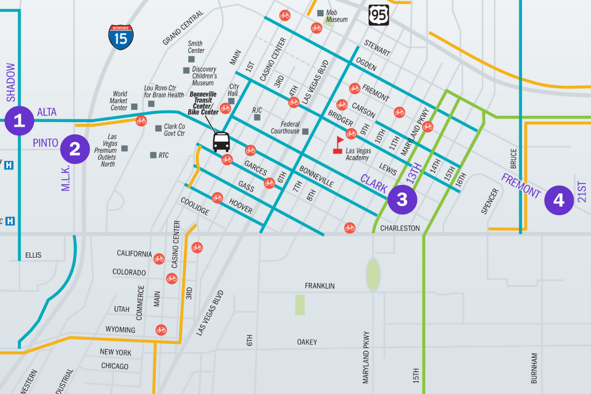 Community input needed on additional RTC Bike Share stations in downtown Las Vegas