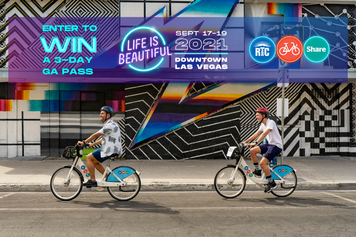 RTC Bike Share is taking a lucky winner to Life is Beautiful, Sept. 17-19