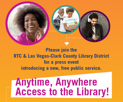 MEDIA ADVISORY: Las Vegas-Clark County Library District and Regional Transportation Commission of Southern Nevada to Announce Special Partnership Thursday, Sept. 16 at 9:30 a.m.